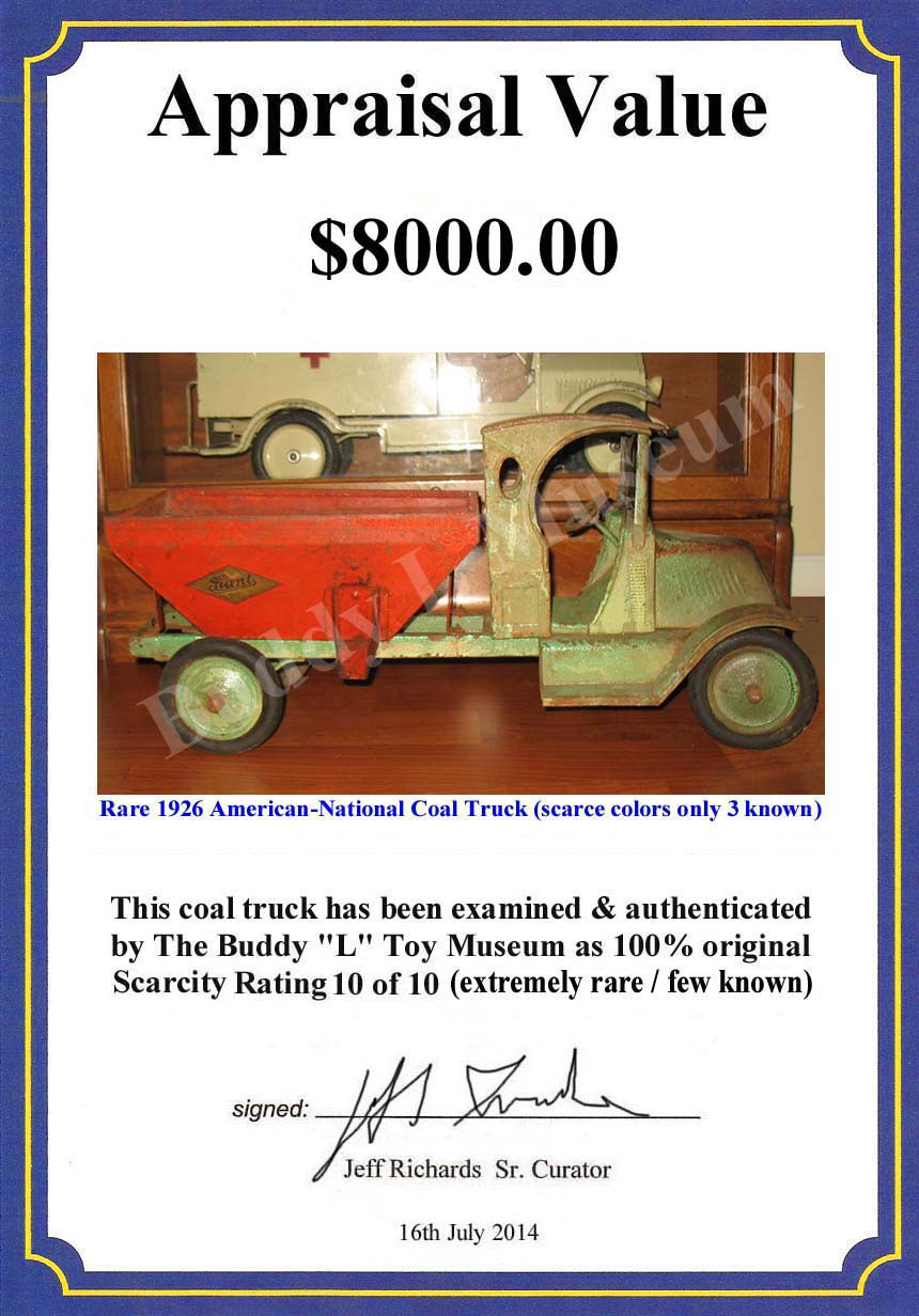 American National Toy Trucks For Sale ~ Free Appraisals