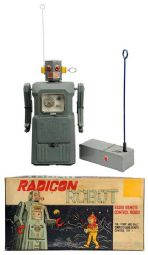 radicon robot, masudaya, japan, japanese, linemar toy appraisals,  values,ebay vintage toys, battery operated toys, ebay vintage space toys for sale, space toy museum appraisals, vintage space toys for sale inquire,  space toys, vintage space toys, ebay space toys appraisals, tin toy robots, flying saucer, space ship, toy appraisals, nomura, alps, space patrol, vintage space toys auctions, buddy l museum space toy museum facebook space toys for sale, ebay space toys for sale free appraisals, robby robot