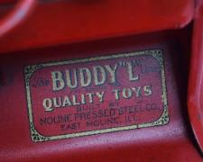 www.buddylmuseum.com, buying antique toy fire trucks, buddy l fire engine value,  yellow red fire truck buddy l museum,  vintage space toys, american national toy trucks, sturditoy fire trucks. rare buddy l fire truck for sale,  Contact us with your buddy l and steelcraft fire truck for sale