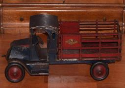 www.buddylmuseum.com, free toy appraisals, 1920's american national toy truck for sale, appraisals, buddy l toys for sale, vintage pressed steel toy trucks, american national toy trucks,american national coal truck,american national stake truck,american national circus truck,american national packard automobile,american national tank truck,american national dump truck,american national moving van,buddy l toys, antique buddy l trucks for sale, vintage space toys, rare toy trucks