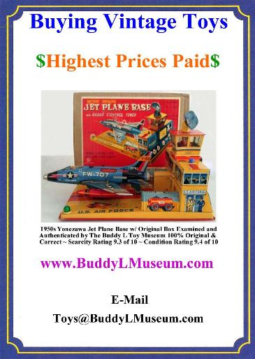 Vintage Space Toys Reference Guide, Buddy L Truck Identification, Buying buddyd l toys, buying buddy l trucks, expert toy appraisals, toy appraisals near me, what's my toy worth, Keystone Circus Truck For Sale, Buddy L Toys Value Guide, German Tin Toys Value Guide, Linemar tin toys, yonezawa tin toys, buying buddy l trucks, buddy l toys identification guide