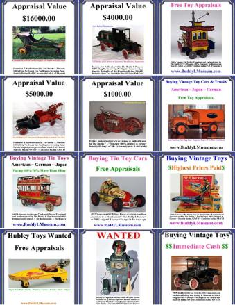 Antique toys appraised absolutely free. Buying Antique Toy Collections Visit The Buddy L Museum and receive a free toy appraisal