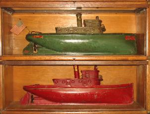 1928 Buddy L Tugboat, First Buddy L Tugboat Flag discovered,  one known original flag & falgstaff ever discovered. Original Buddy L Tugboat motor Buying buddy l toys Visit us today
