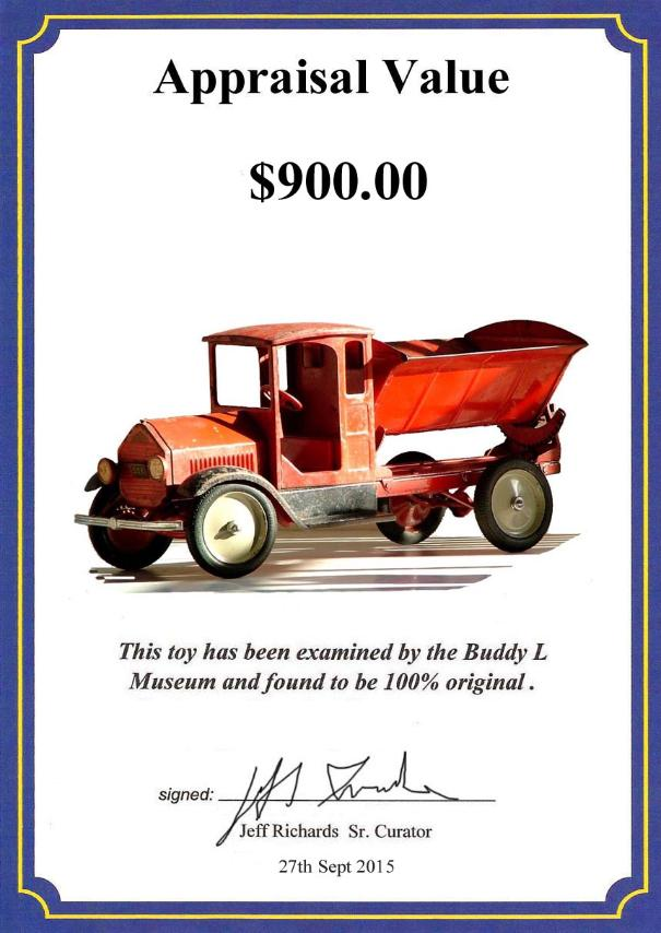 Buddy L Toys Value Guide ~ Free Appraisals
